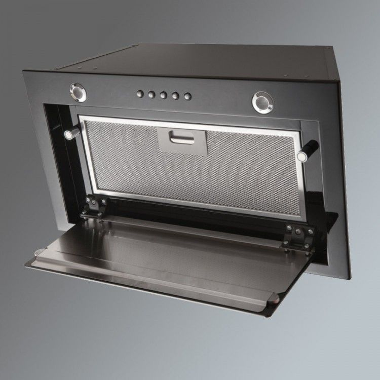 & Lux Air LA72CANBG 72cm Canopy Extractor Hood in Black Glass 950m3hr